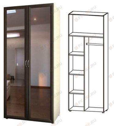 Шкаф комбинированный с зеркалами 5.27