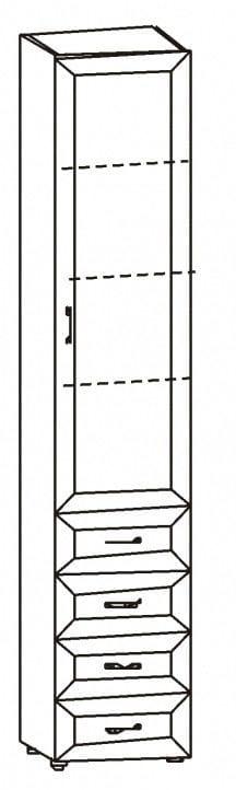 Шкаф 1-но дверный с 4-мя ящиками 6.45