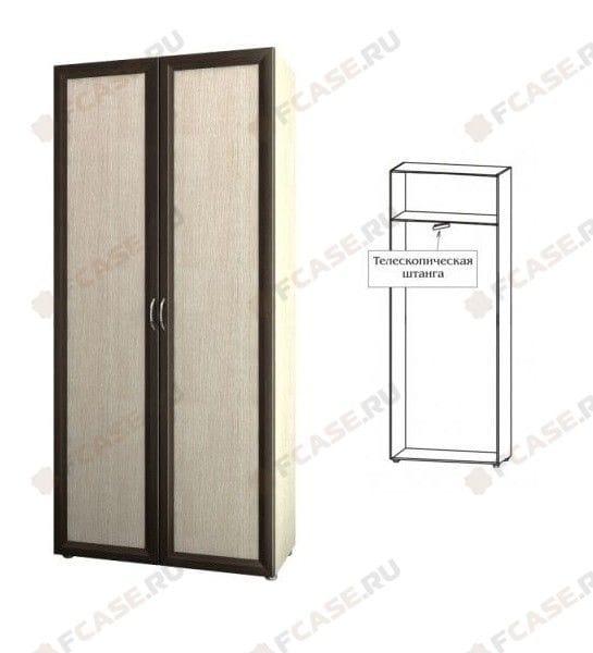 Шкаф для одежды узкий с выдвижной штангой 5.10