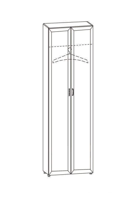 Шкаф 2-х дверный 12.19