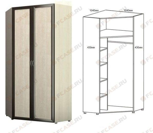 Шкаф угловой для одежды 2-х дверный 6.20