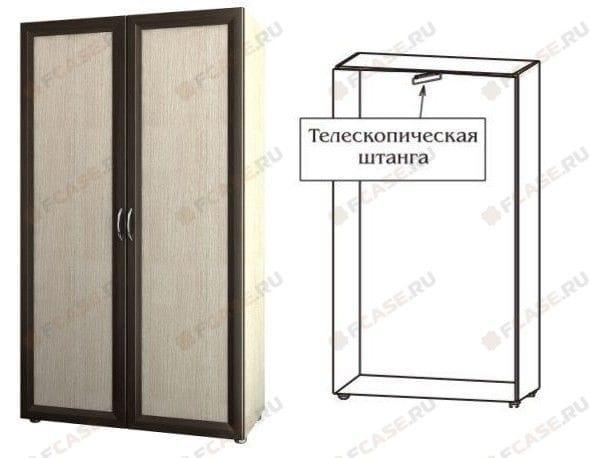 Шкаф для одежды узкий с выдвижной штангой 4.10
