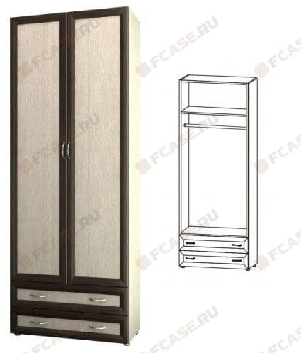 Шкаф 2-х дверный с 2-мя ящиками глубокий 6.06