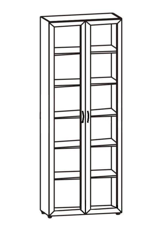 Шкаф 2-х дверный со стеклом 6.08