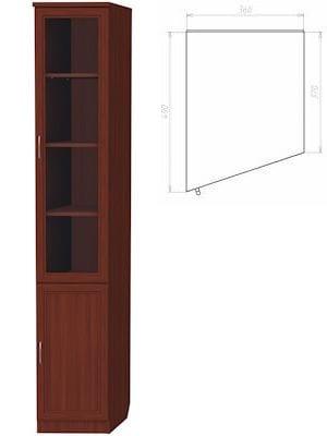 Шкаф для книг (консоль левая) арт-201