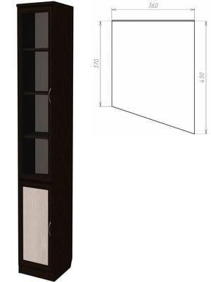Шкаф для книг (консоль правая) арт-202