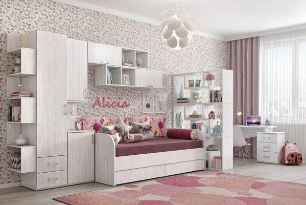 Шкаф для одежды Дарина арт. УШ01 цвет Арктика