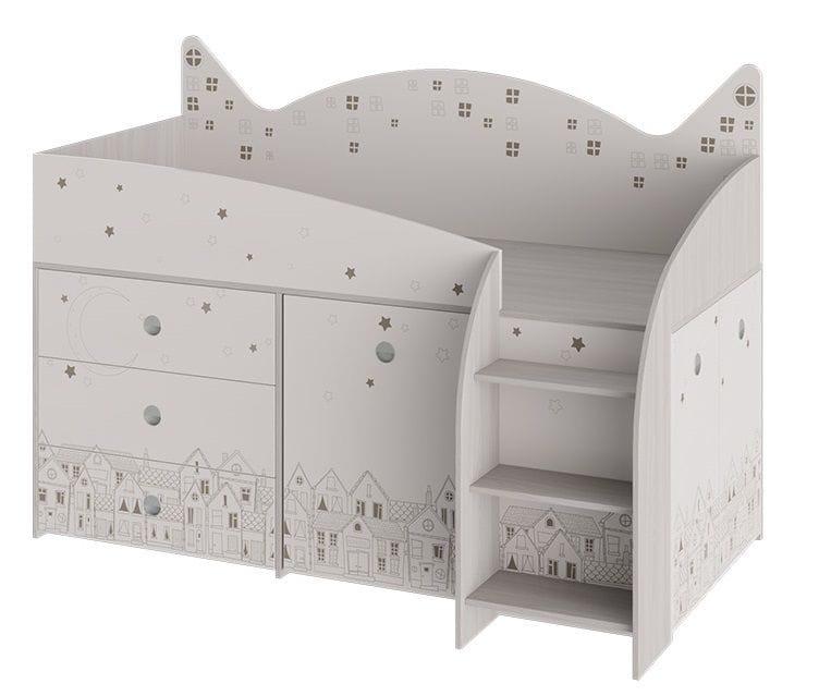 Кровать комбинированная «Каспер» (Ясень Шимо/Бежевый)