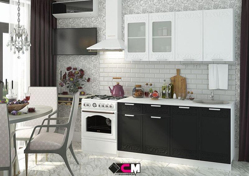 Кухонный гарнитур «Кремона», оникс-сноу