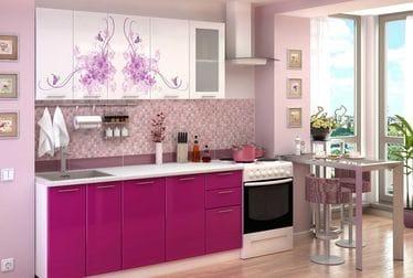Кухня с фотопечатью «Нежность» 1.8