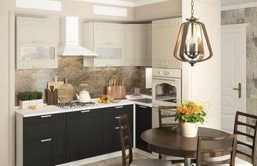 Кухонный гарнитур «Кремона», крем-оникс