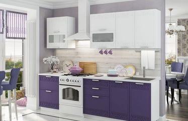 Кухонный гарнитур «Кремона», сноу-орхидея