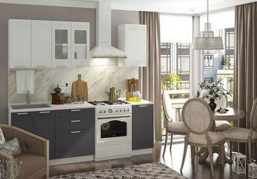 Кухонный гарнитур «Кремона», титан-сноу