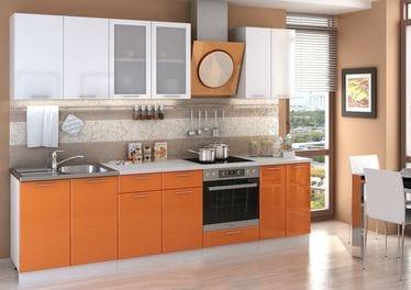 Кухонный гарнитур «Ксения», оранж-белый