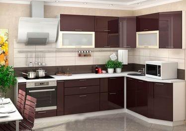 Кухонный гарнитур «Ксения», шоколад