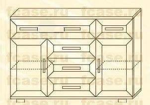 Тройной комод мод-167