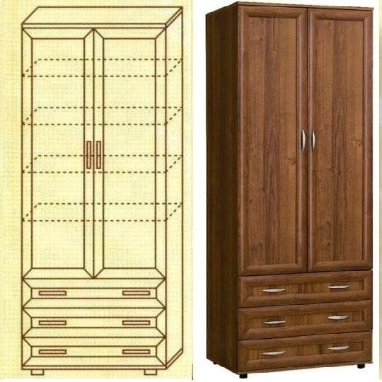 Шкаф для белья мод-100п