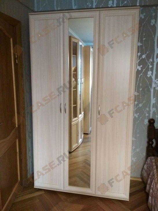 Шкаф со штангой, полками и зеркалом мод-105