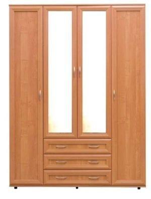 Четырёхстворчатый шкаф с тремя ящиками и двумя отделениями для одежды мод-148