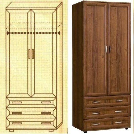 Шкаф для одежды мод-100