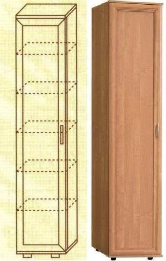 Узкий шкаф с пятью полками мод-114