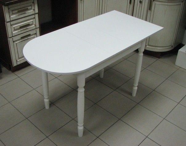 Стол пристенный, белый