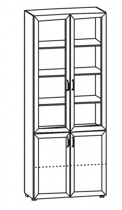 Шкаф для книг 6.09 Радуга