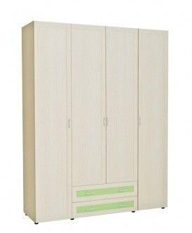Шкаф 4-х дверный для одежды с 2-мя ящиками 6.18р