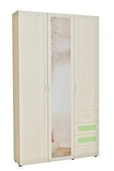 Шкаф 3-х дв. с 4-мя ящиками и зеркальной дверью 6.48р