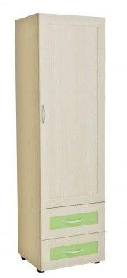 Шкаф 1-но дверный с двумя ящиками 4.04р