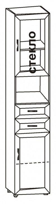 Шкаф 2-х дверный с 2-мя ящиками и нишей 6.44р