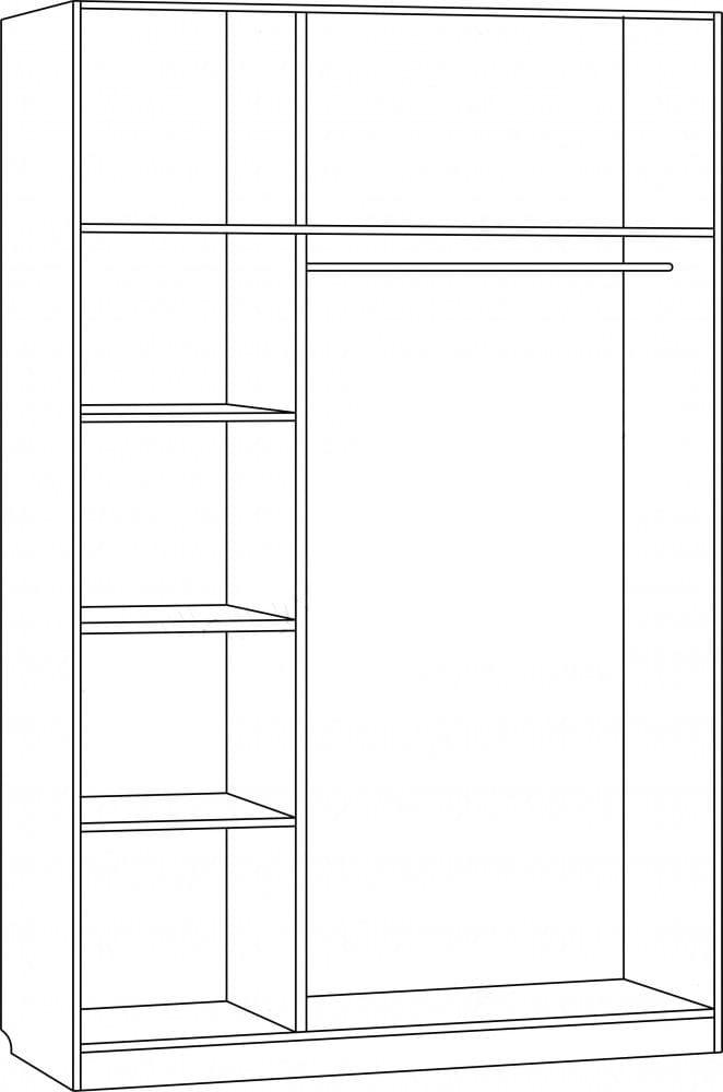 Шкаф для платья и белья 3-х дверный С 204 M