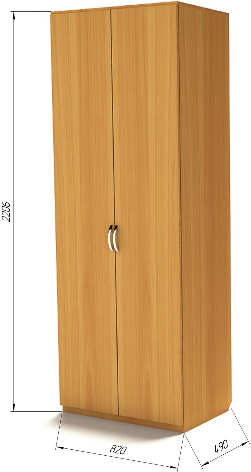 Комбинированный шкаф для одежды Ш-2 (820мм)