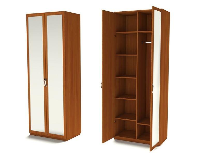 Комбинированный шкаф для одежды с зеркалами