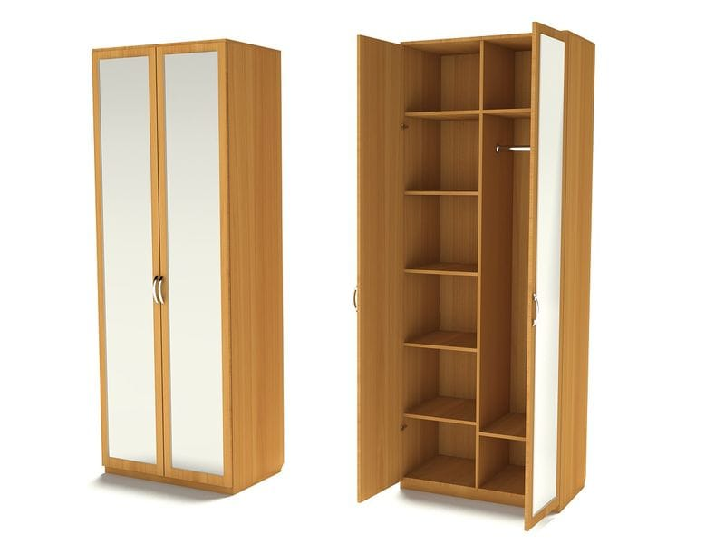 Комбинированный шкаф для одежды с зеркалами Ш-2 (З-2)