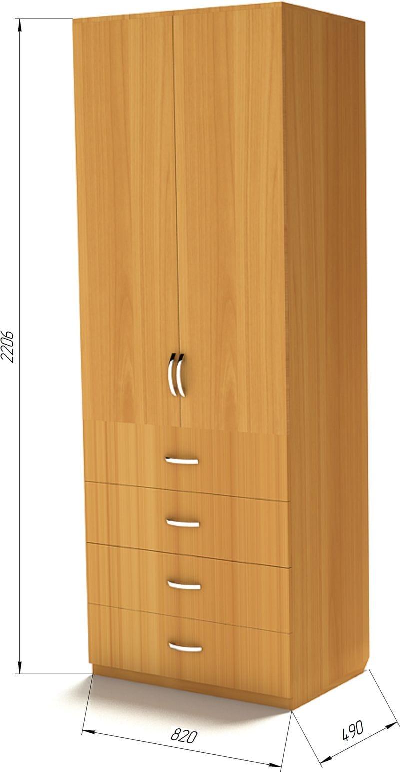 Недорогой шкаф для одежды Ш-3 (820)