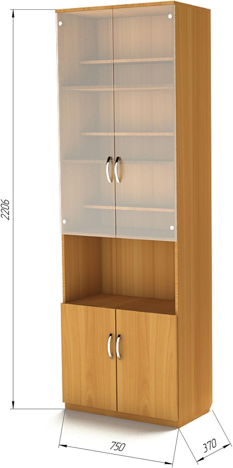Шкаф для книг с нишей ШК-2Н