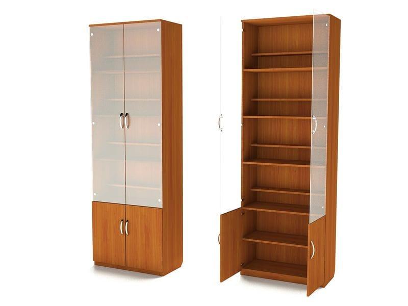 Шкаф для книг с двухъярусными полками ШК-2