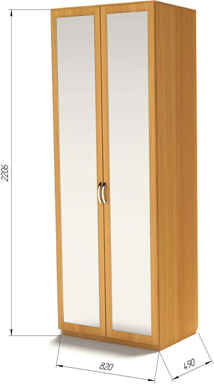Шкаф с полками и зеркалами Ш-4 (З-2)