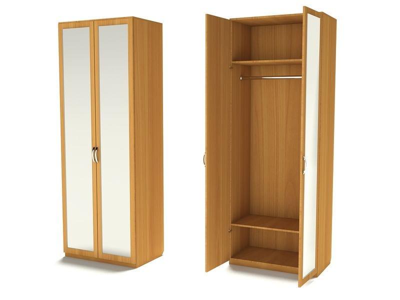 Шкаф для верхней одежды с зеркалами Ш-1 (З-2)