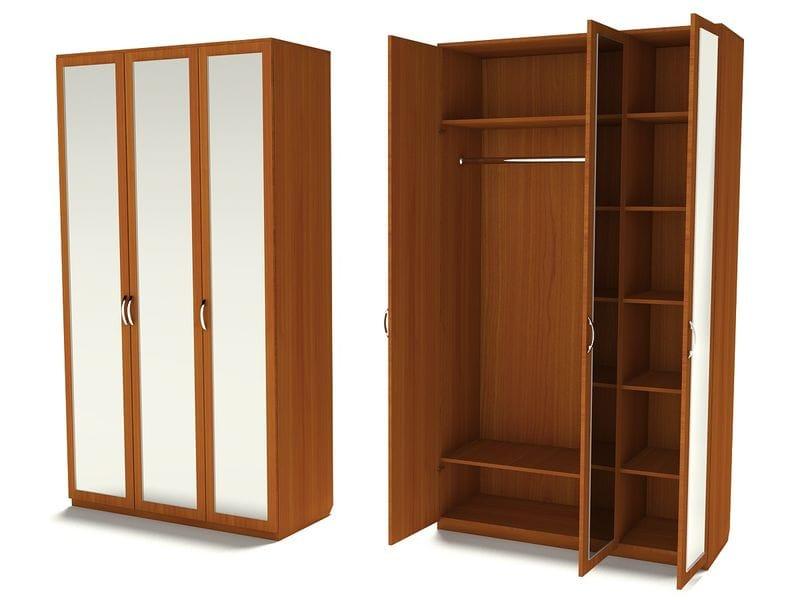 Шкаф для одежды с тремя зеркалами Ш-3С (З-3)
