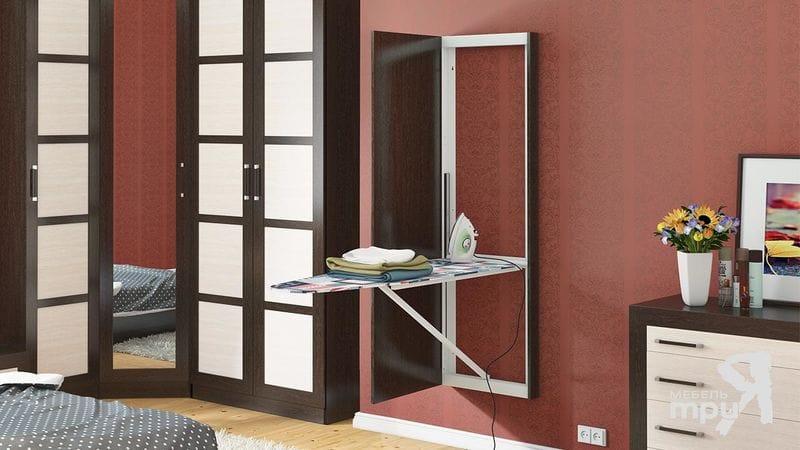 Панель с зеркалом со встроенной гладильной доской Тип-1, ТД 901.16