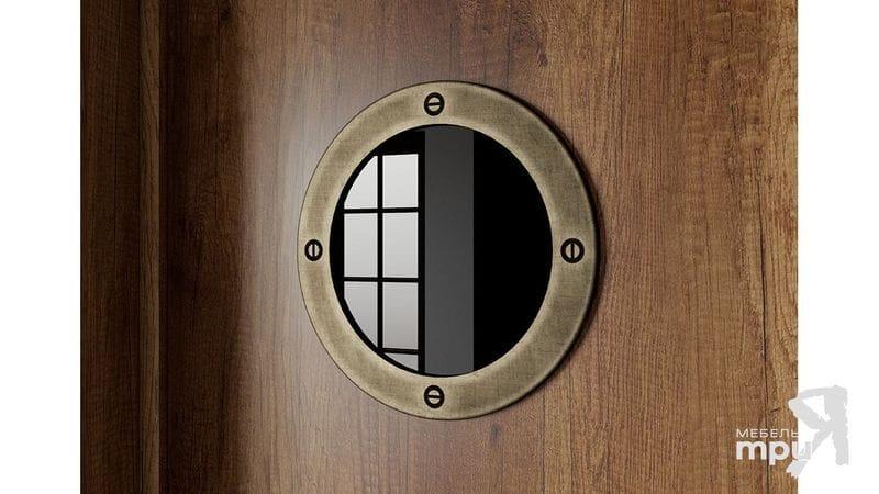 Шкаф комбинированный для одежды с иллюминатором «Навигатор», СМ-250.07.22