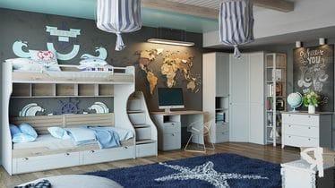 Набор детской мебели «Ривьера» №4, ГН-241.104