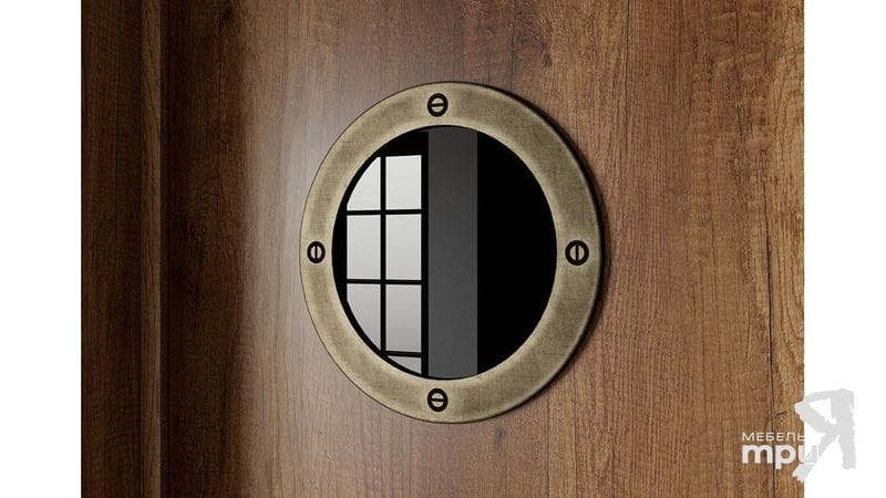 Шкаф угловой с иллюминатором «Навигатор», СМ-250.07.23