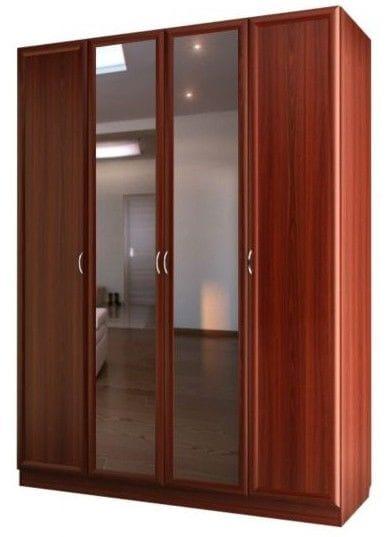 Шкаф для платья и белья 4-х дверный с 2-мя зеркалами С 200/1 М