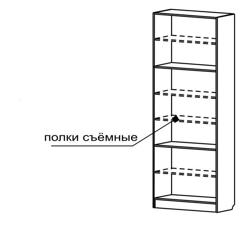Шкаф с полками С 205 М