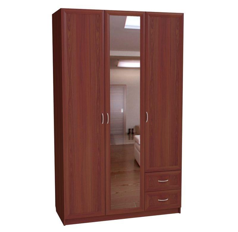 Шкаф трехдверный с двумя ящиками с зеркалом С 285/1 М