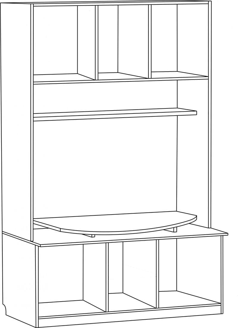Шкаф под ТВ широкий С 286 М