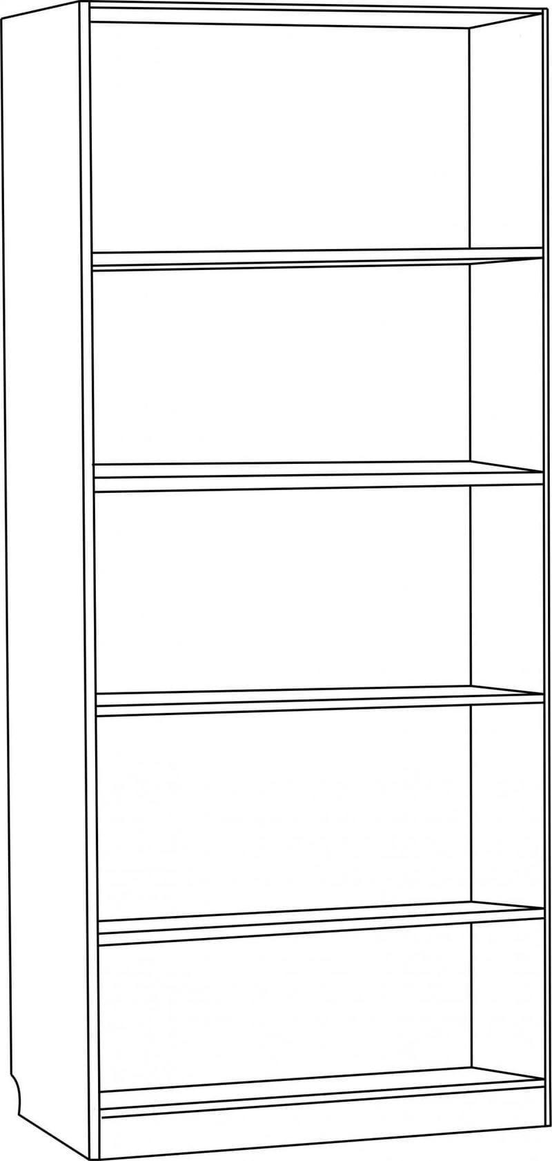 Шкаф для книг открытый С 207 М